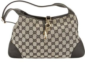Gucci Black and White GG Jacquard Canvas sima Jackie Bag - MULTI-COLORED - STYLE