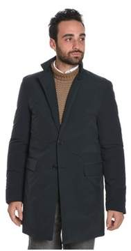 Aspesi Men's Blue Polyester Coat.