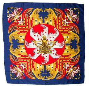 Hermes Prouses Silk Scarf