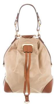 Ralph Lauren Leather-Trimmed Nylon Shoulder Bag
