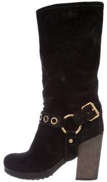 Car Shoe Suede Mid-Calf Boots