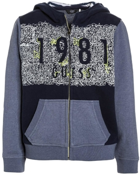 GUESS Fleece Zip Up Jacket
