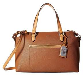 Lauren Ralph Lauren Lindley Addie Medium Leather Satchel.