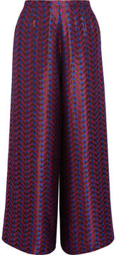 Etro Metallic Jacquard Wide-leg Pants - Pink