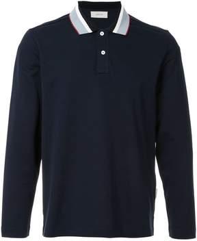 Cerruti contrast collar polo shirt