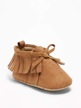 Old Navy Fringed Moccasin Booties for Baby