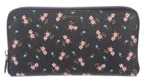 Givenchy Floral Print Travel Wallet