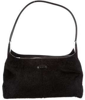 Tod's Ponyhair & Leather Shoulder Bag