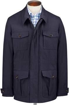 Charles Tyrwhitt Navy Field Cotton Jacket Size 44