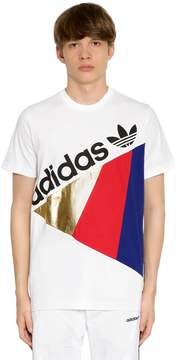 adidas Tribe Patchwork Cotton Jersey T-Shirt