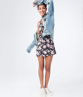 Aeropostale Floral Choker Swing Dress