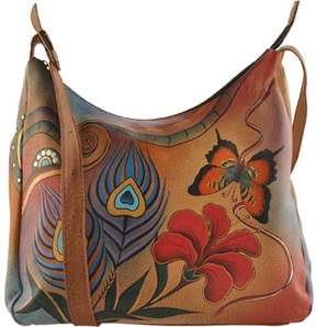 Anuschka Anna By ANNA by Hand Painted Leather Large Hobo 7006 (Women's)