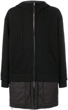 Juun.J layered hooded coat
