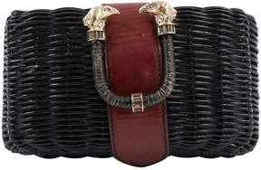 Emilio Pucci Black Wicker Clutch Bag