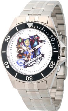Marvel Guardian Of The Galaxy Mens Silver Tone Strap Watch-Wma000101