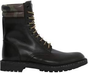 Givenchy Leather Lace-Up Military Boots