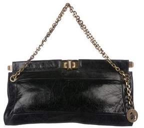 Lanvin Leather Chain-Link Bag