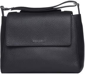 Orciani Sveva M Black Shoulder Bag