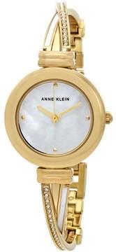 Anne Klein Ladies Gold Tone Bangle Watch