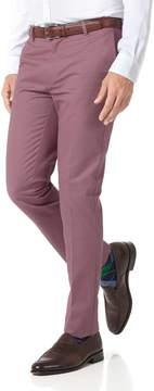 Charles Tyrwhitt Light Pink Extra Slim Fit Flat Front Non-Iron Cotton Chino Pants Size W30 L34