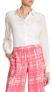 Amanda Uprichard Liv Long Sleeve Silk Blouse