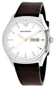 Giorgio Armani Emporio Zeta Leather Mens Watch AR1999