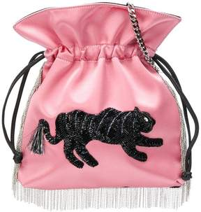 Les Petits Joueurs embellished fringed crossbody bag