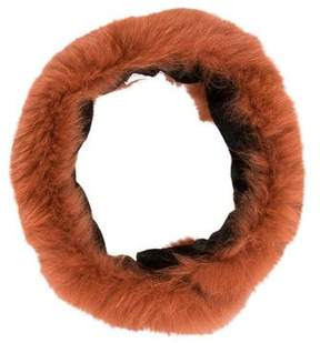 RED Valentino Fur-Accented Neck Scarf