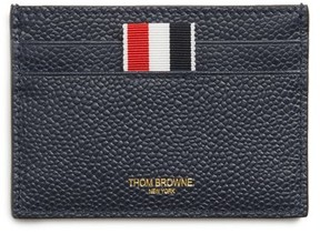 Thom Browne Men's Leather Card Case - Black
