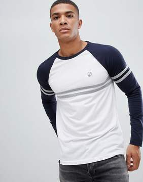 Le Breve Raglan Cut and Sew Long Sleeve Top
