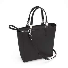Royce Leather Royce RFID Blocking Saffiano Leather Mini Tote Crossbody Bag - Black