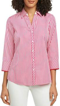 Foxcroft Mary Gingham Button-Down Top