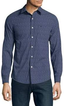 Dockers Printed Slim-Fit Button-Down Shirt