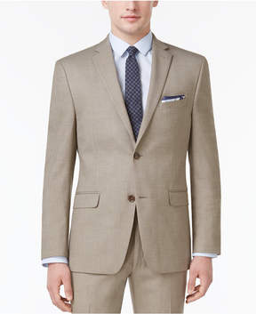 Alfani Men's Slim-Fit Traveler Light Brown Neat Jacket, Created for Macy's