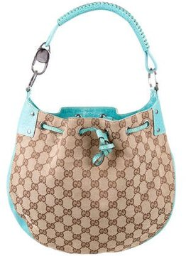Gucci GG Drawstring Hobo - BROWN - STYLE