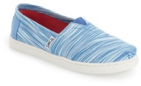 Toms Infant Girl's 'Classic - Blue Space Dye' Slip-On