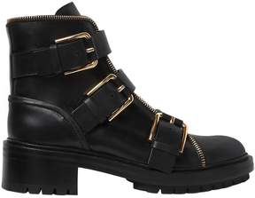 Balmain 40mm Ambra Buckled Leather Ankle Boots