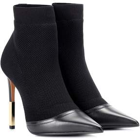 Balmain Aurore leather-trimmed ankle boots