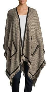 Bindya Knitted Fringe Ruana