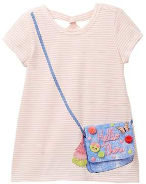 Jessica Simpson Juniper Peach Stripe Denim Purse Dress (Big Girls)