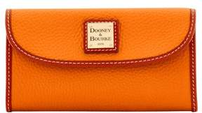 Dooney & Bourke Pebble Grain Continental Clutch Wallet - TANGERINE - STYLE