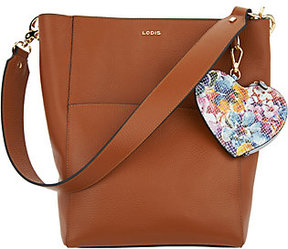 Lodis As Is Italian Leather RFID Hobo with Zip Accessory