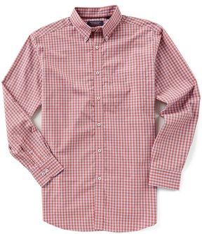 Roundtree & Yorke Trademark Long-Sleeve Plaid Sportshirt