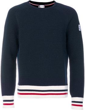 Moncler Gamme Bleu striped trim sweater
