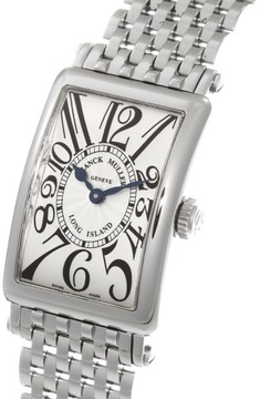 Franck Muller Long Island 902QZ Stainless Steel with Silver Dial 23mm Womens Watch