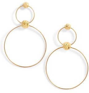 Argentovivo Women's Double Drop Earrings