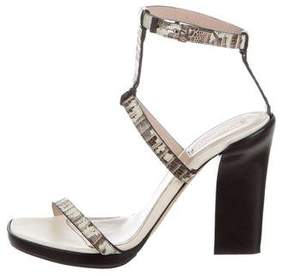 Reed Krakoff Lizard Ankle Strap Sandals