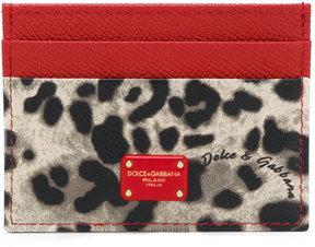 Dolce & Gabbana leopard print cardholder - NUDE & NEUTRALS - STYLE