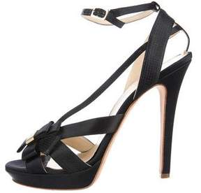 Versace Satin Bow-Accented Sandals