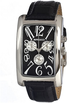 Breed Gatsby Chronograph Leather-band Watch.